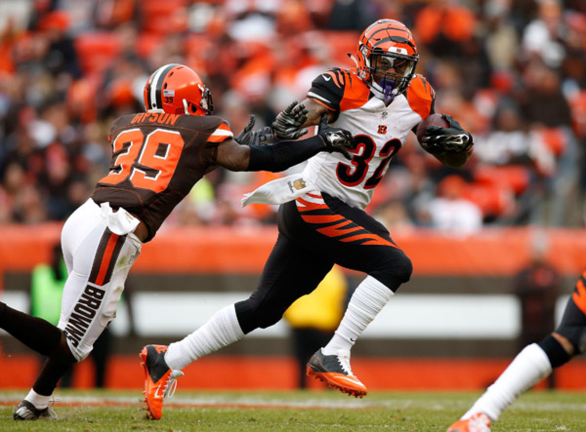 fantasy football 2015 week 14 risers and sliders jeremy hill