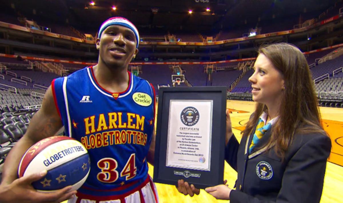 harlem globetrotters guinness world records day longest shot