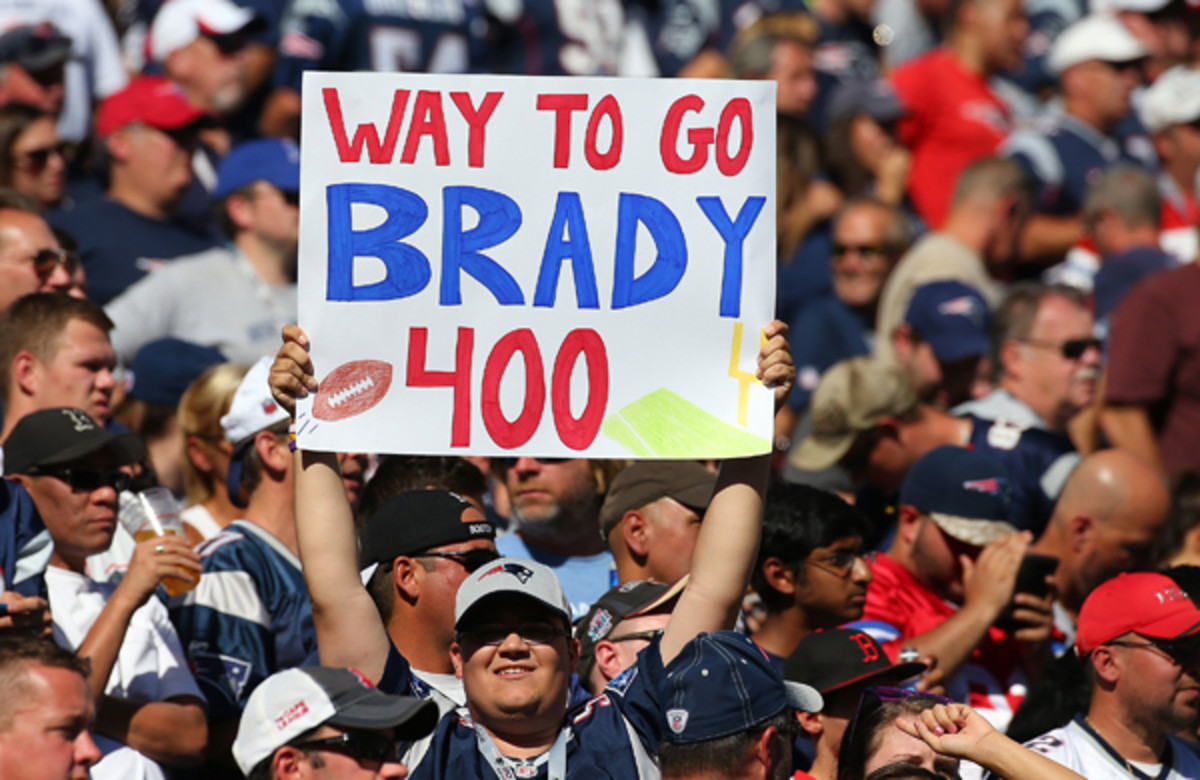 tom brady patriots 400 touchdowns