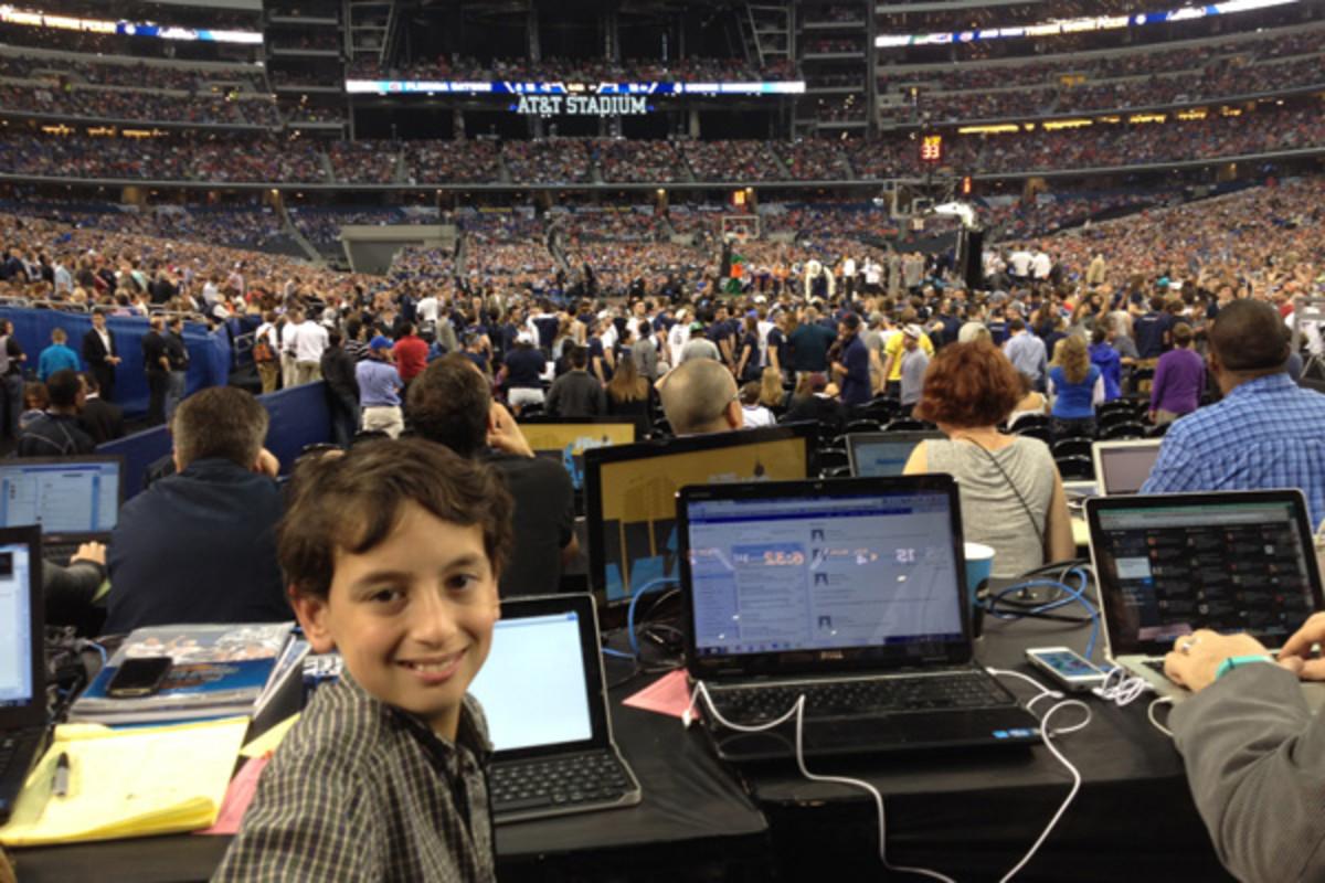 kid reporter jake aron final four 2014