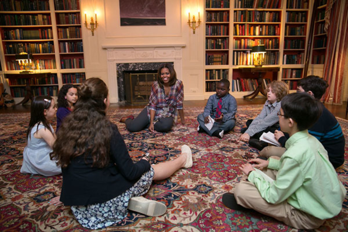 first lady michelle obama let's move easter egg roll kid reporters