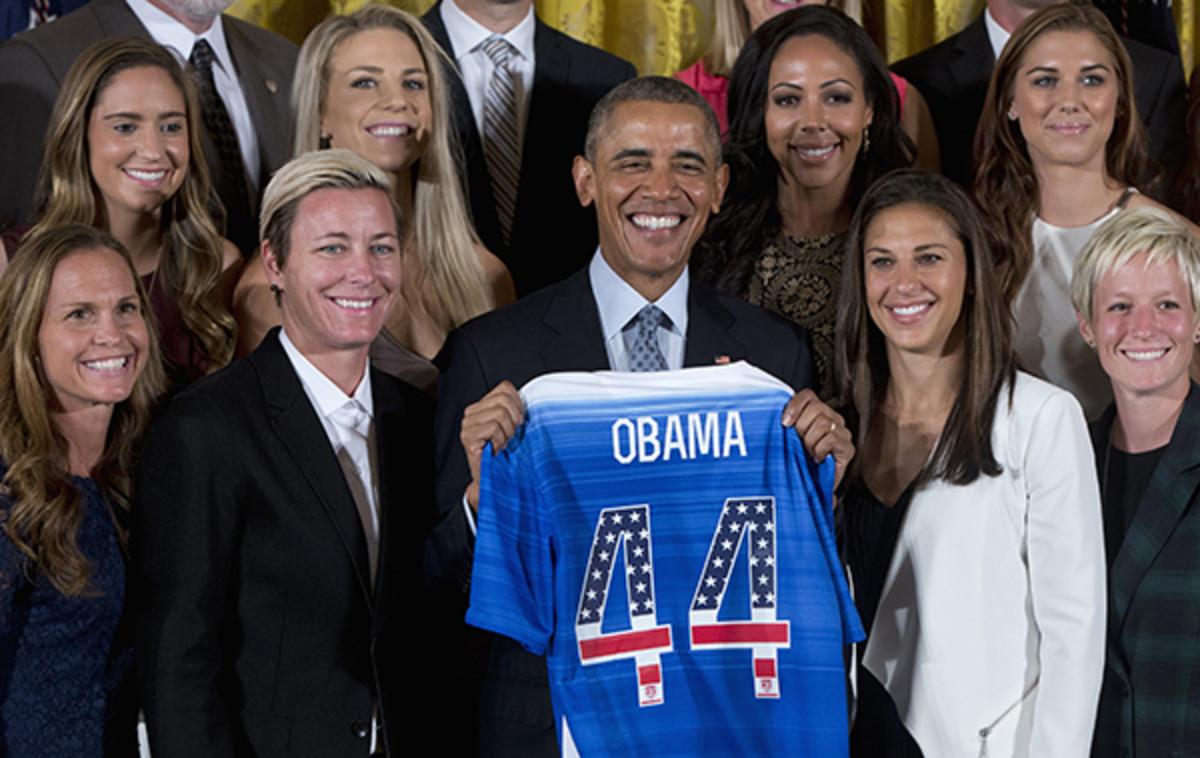 us women's national team white house obama