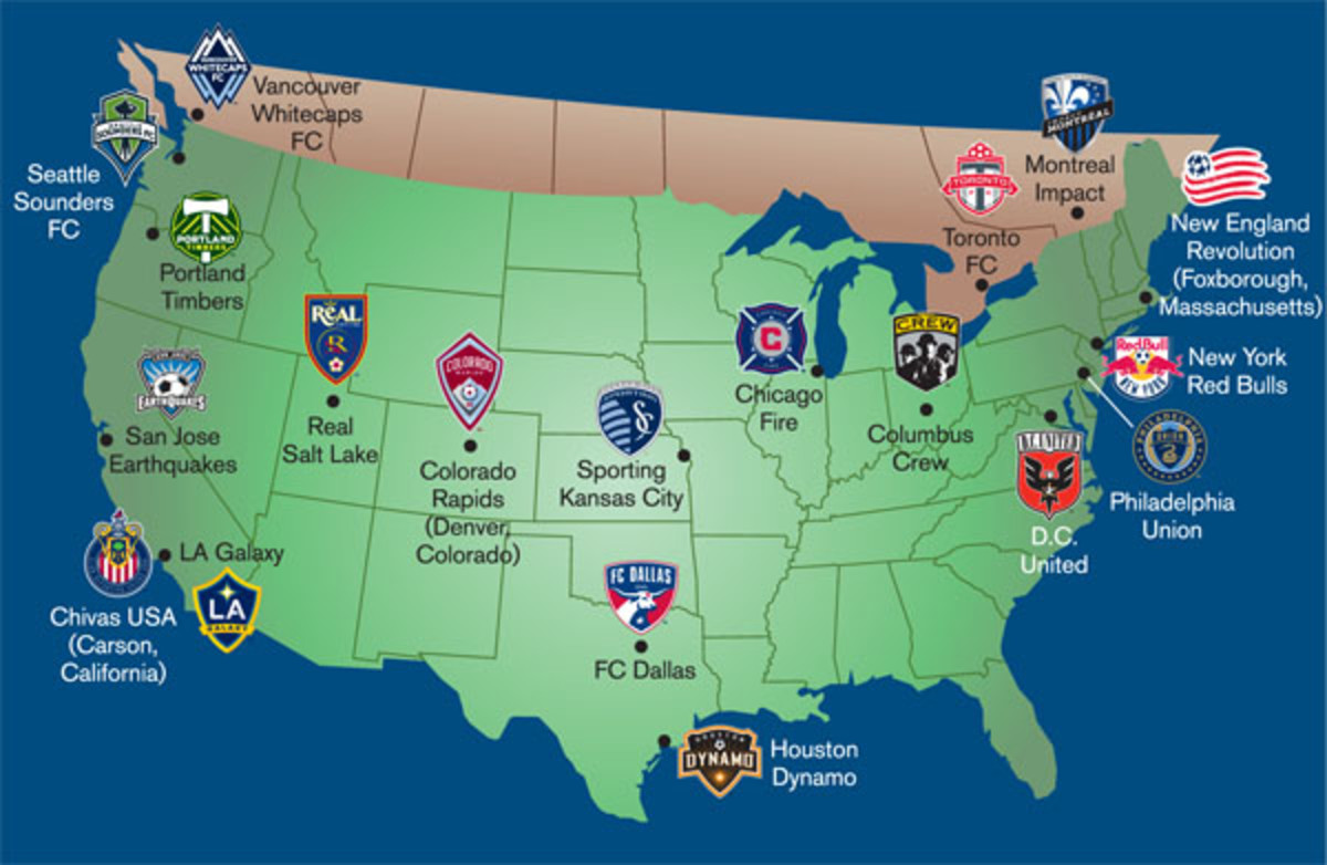 major league soccer 2014 preview map