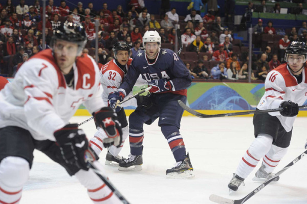 david backes us men's hockey 2010 vancouver olympics