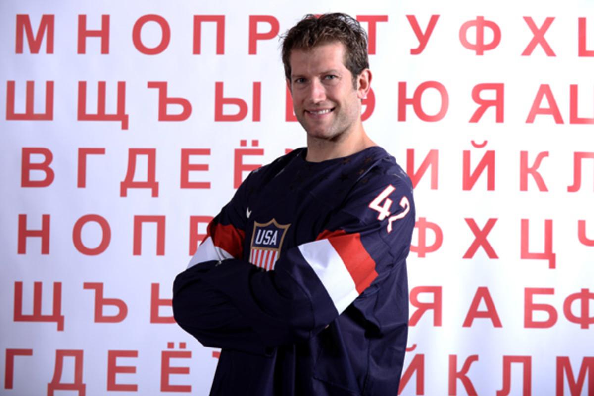 david backes us men's hockey 2014 sochi olympics