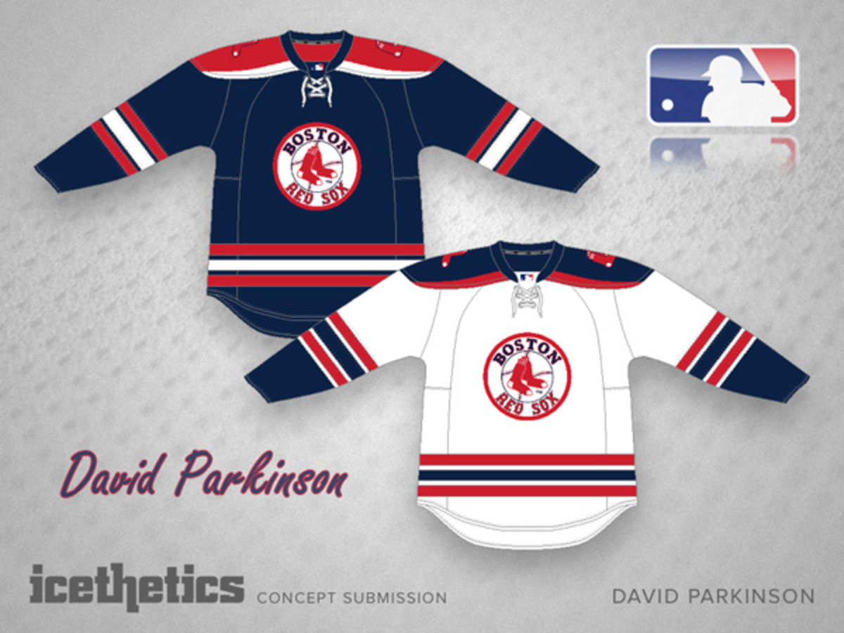 mlb hockey sweaters boston red sox