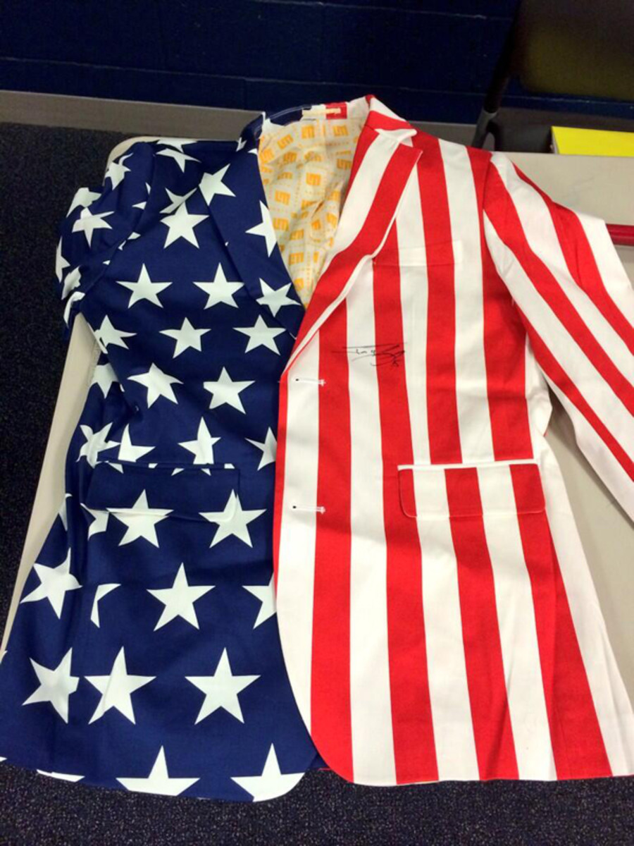 boston red sox flag suit