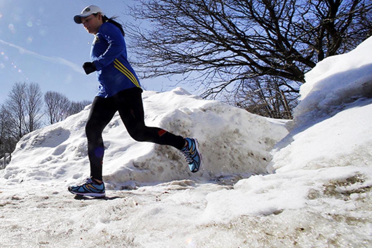 boston marathon training snow
