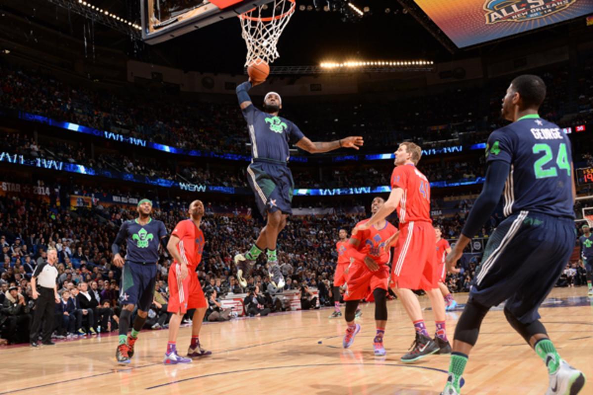 nba all-star game 2014 lebron james dunk