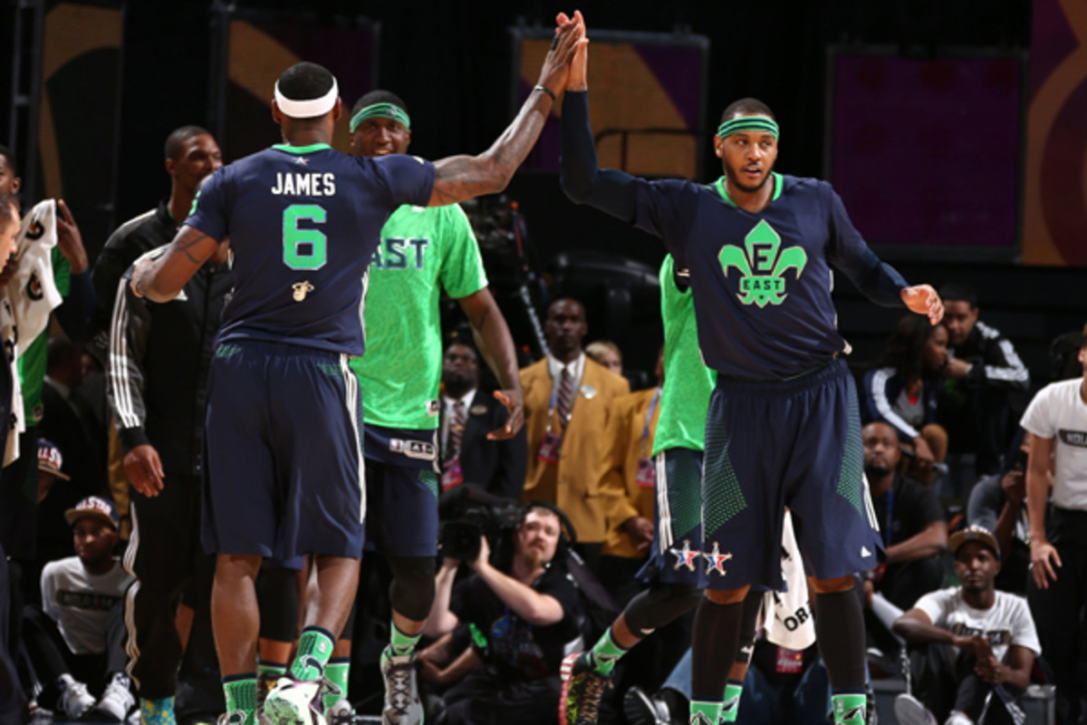 nba all-star game 2014 carmelo anthony lebron james