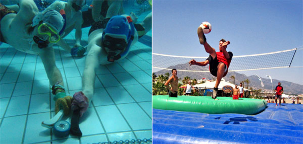 underwater hockey bossaball weird summer sports