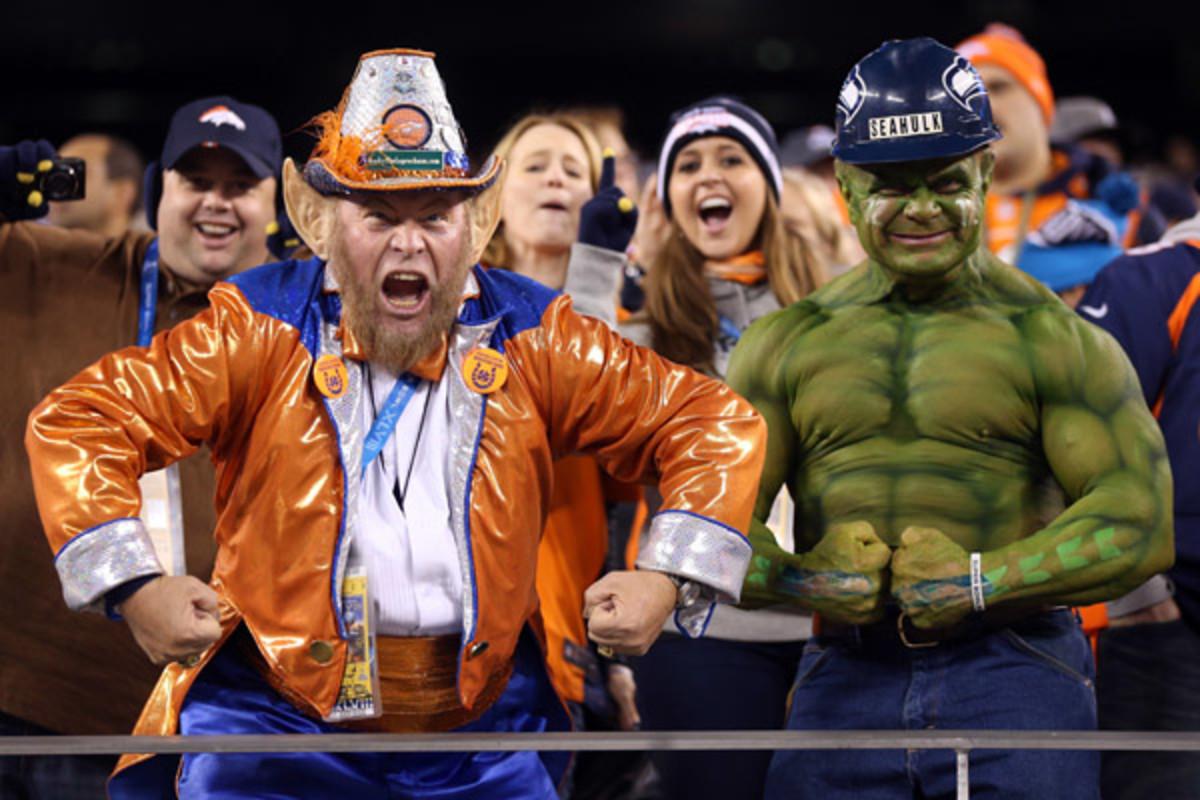 seattle seahawks super bowl xlviii denver broncos fans