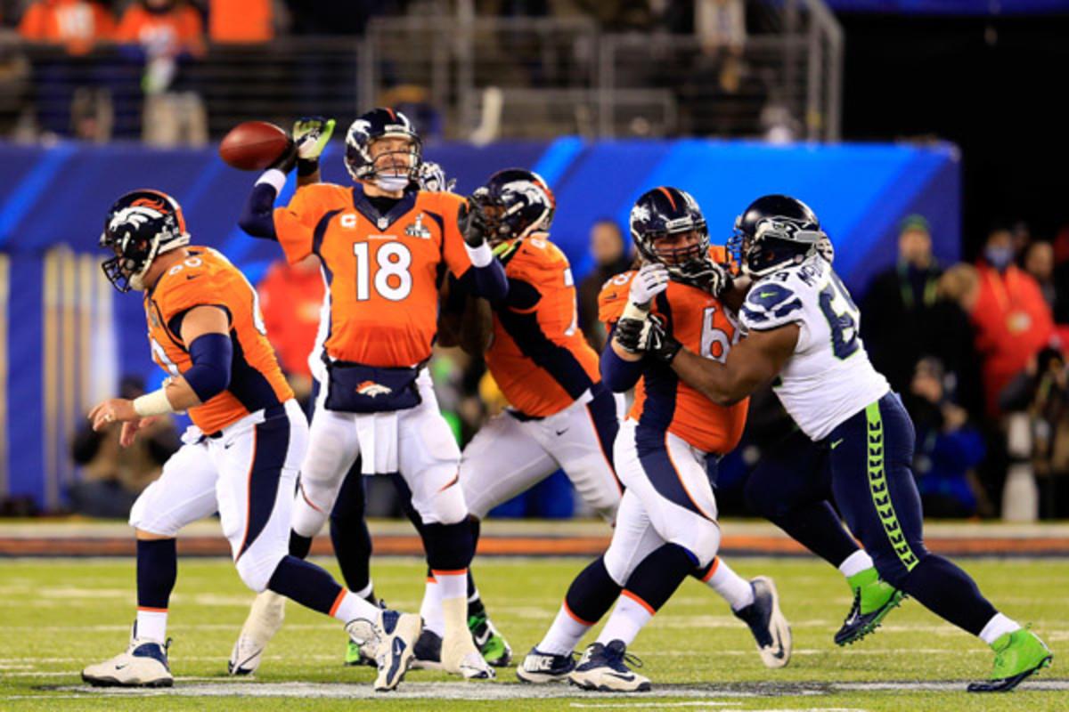 seattle seahawks super bowl xlviii denver broncos peyton manning fumble