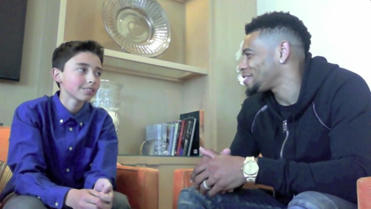joe haden cleveland browns kid reporter interview