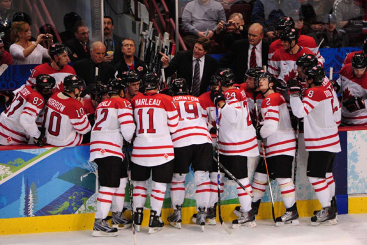 mike babcock canada men's hockey 2010 olympics