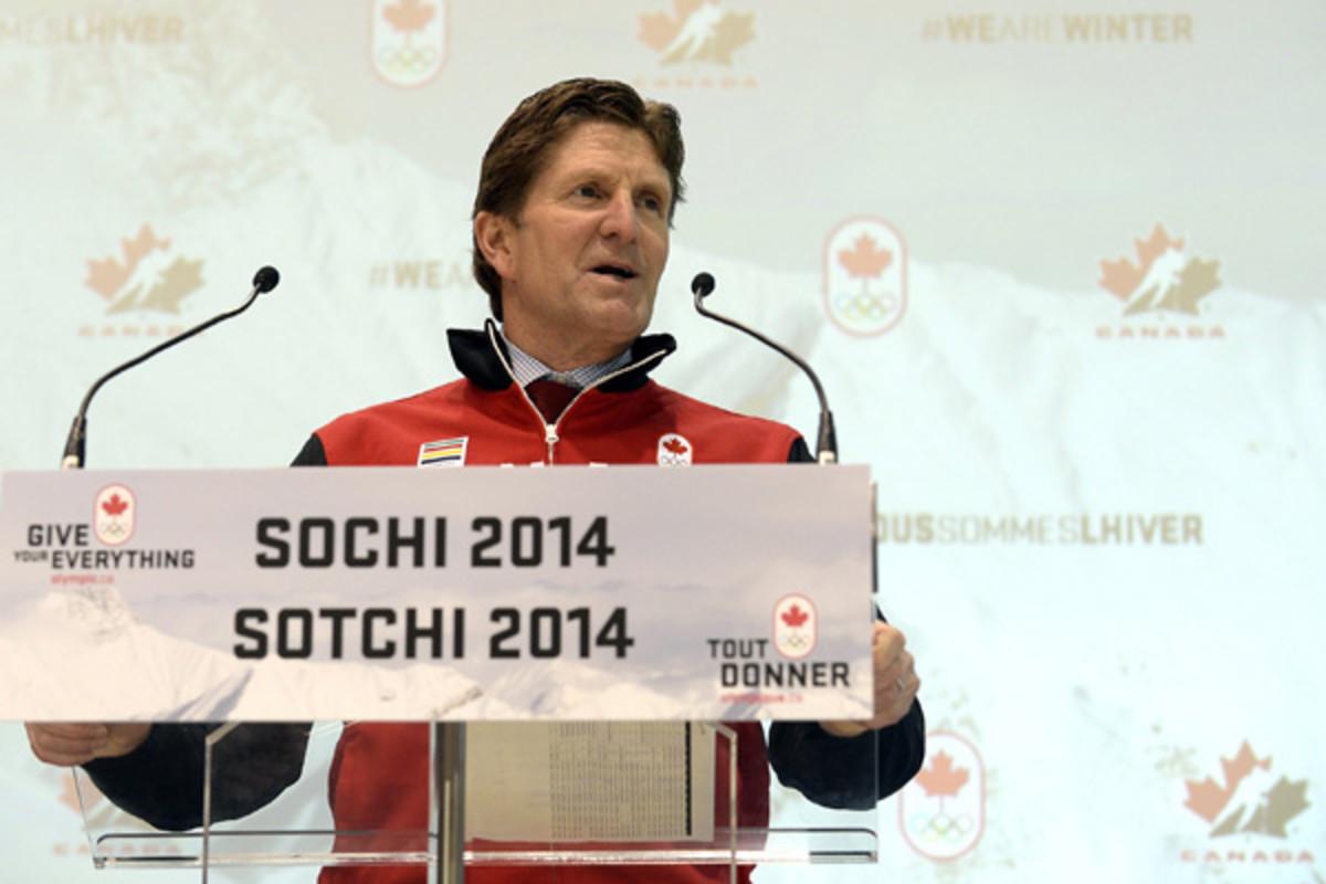 mike babcock canada men's hockey 2014 olympics