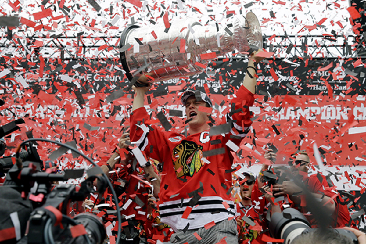 chicago blackhawks stanley cup parade 2015
