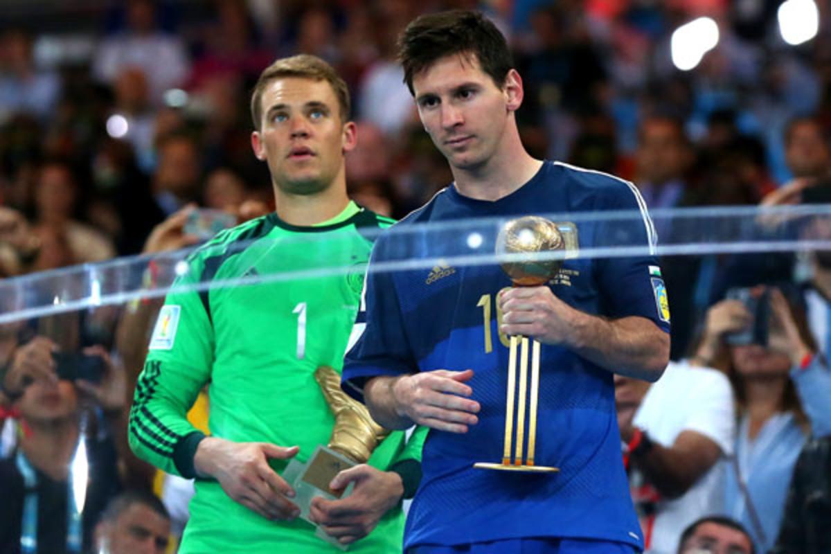2014 world cup messi argentina golden ball