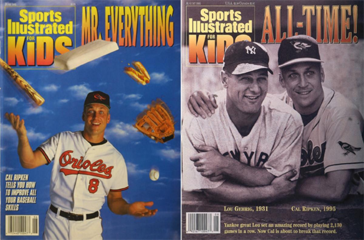 cal ripken jr sports illustrated kids covers