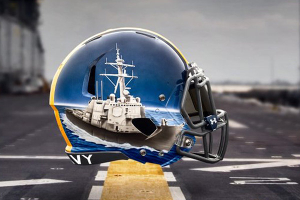 navy midshipmen fleet helmets defensive backs