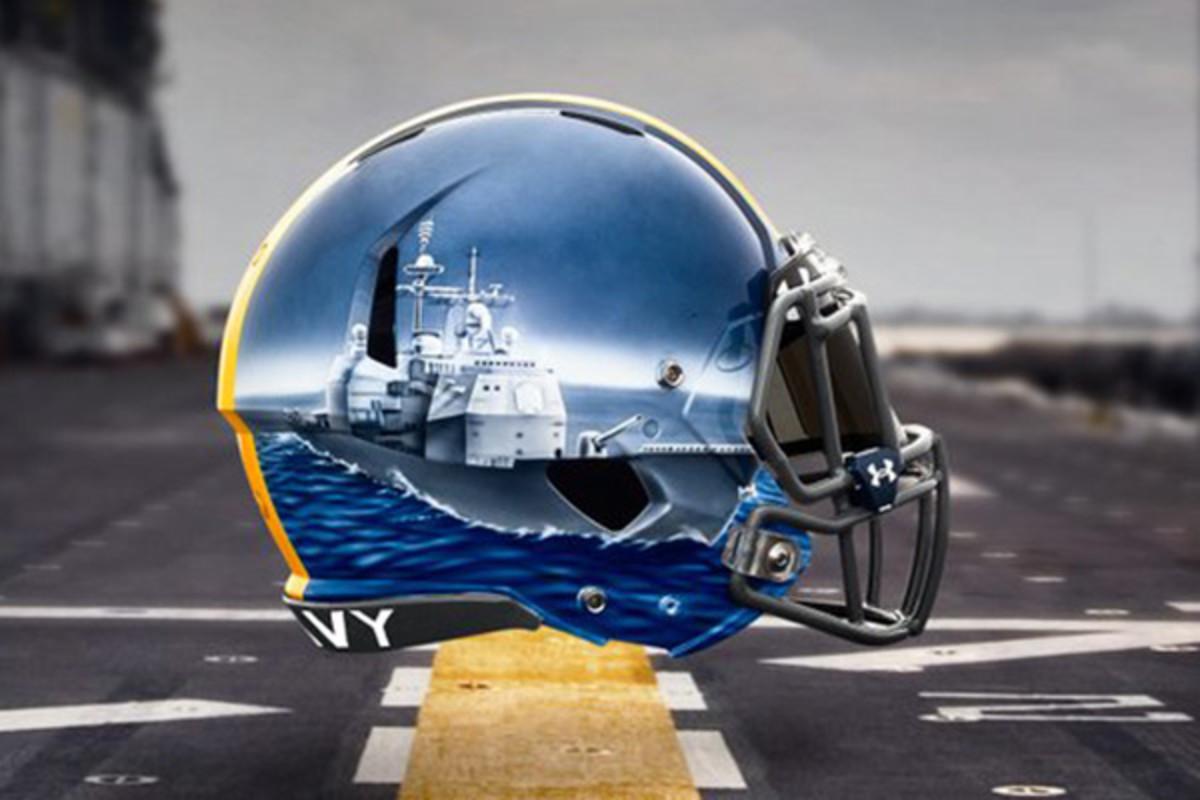 navy midshipmen fleet helmets linebackers