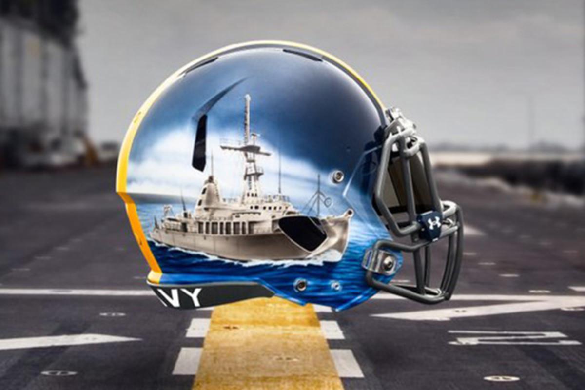 navy midshipmen fleet helmets special teams