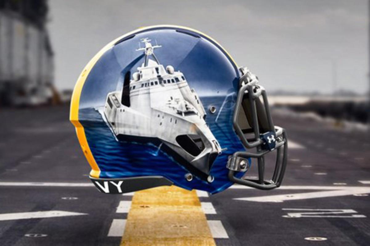 navy midshipmen fleet helmets running backs
