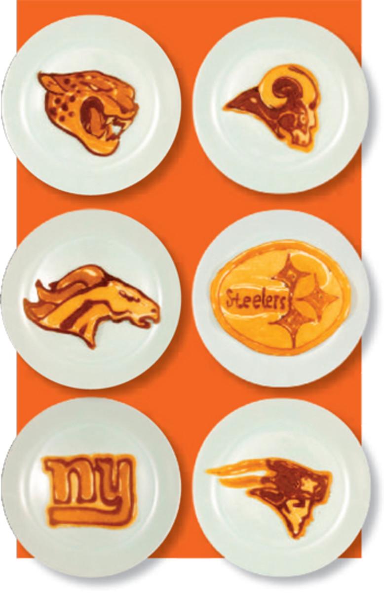 nfl logo pancake art