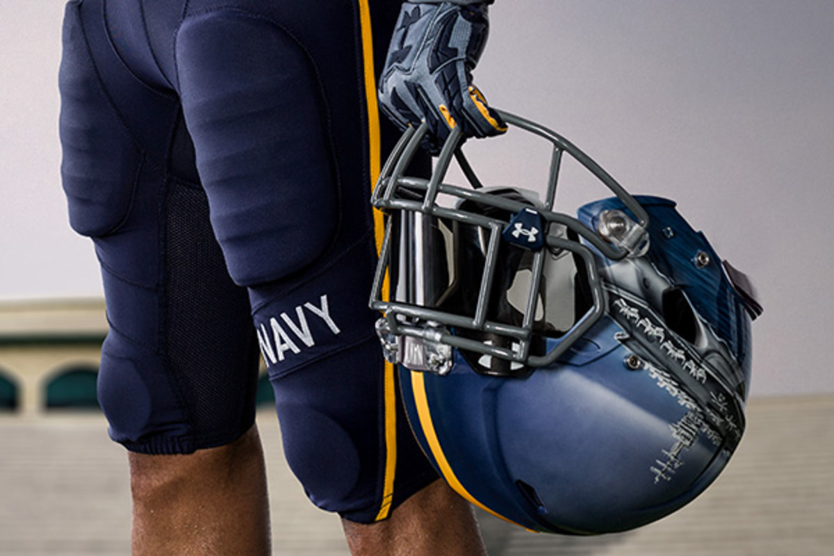 navy midshipmen under armour fleet helmets