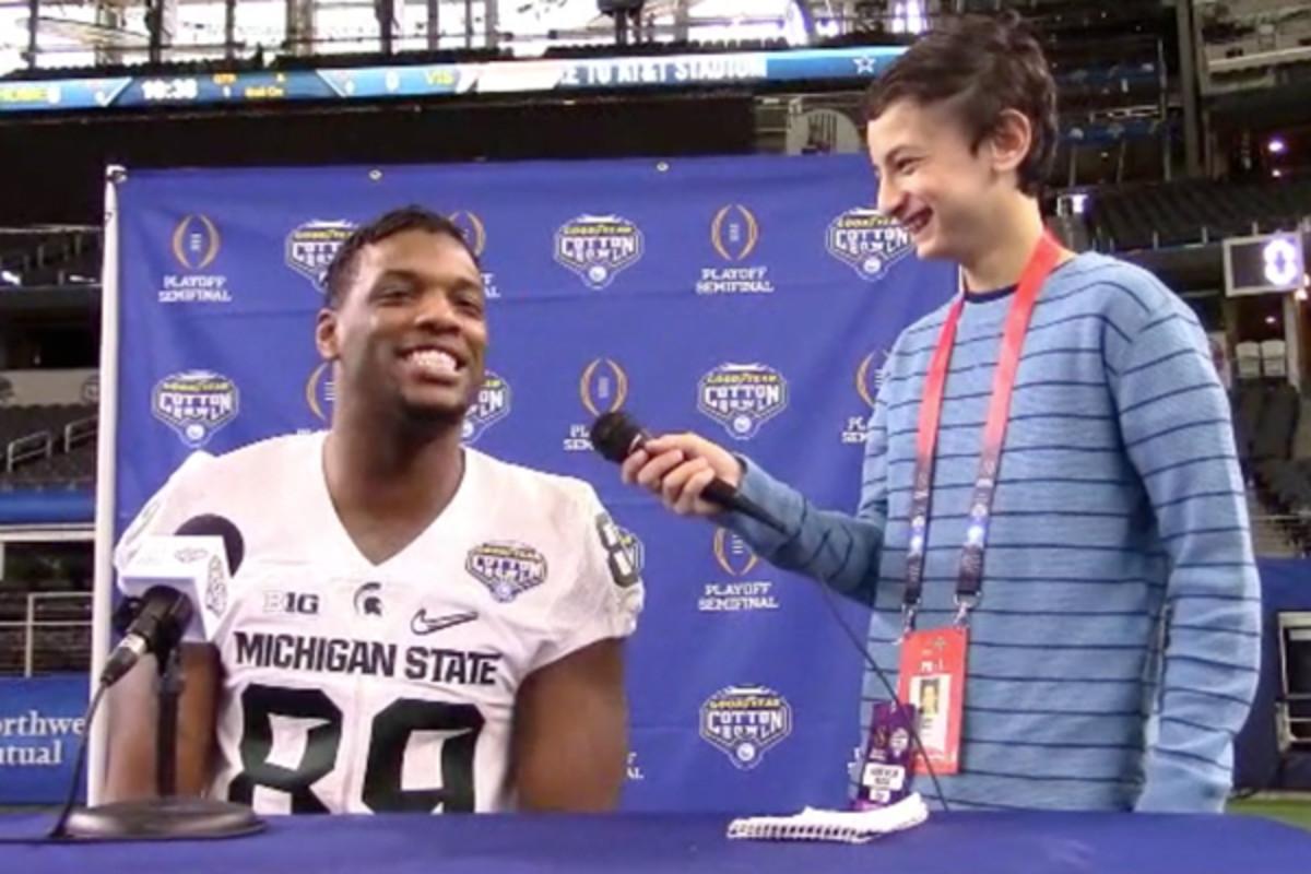 cotton bowl 2015 alabama michigan kid reporter prediction
