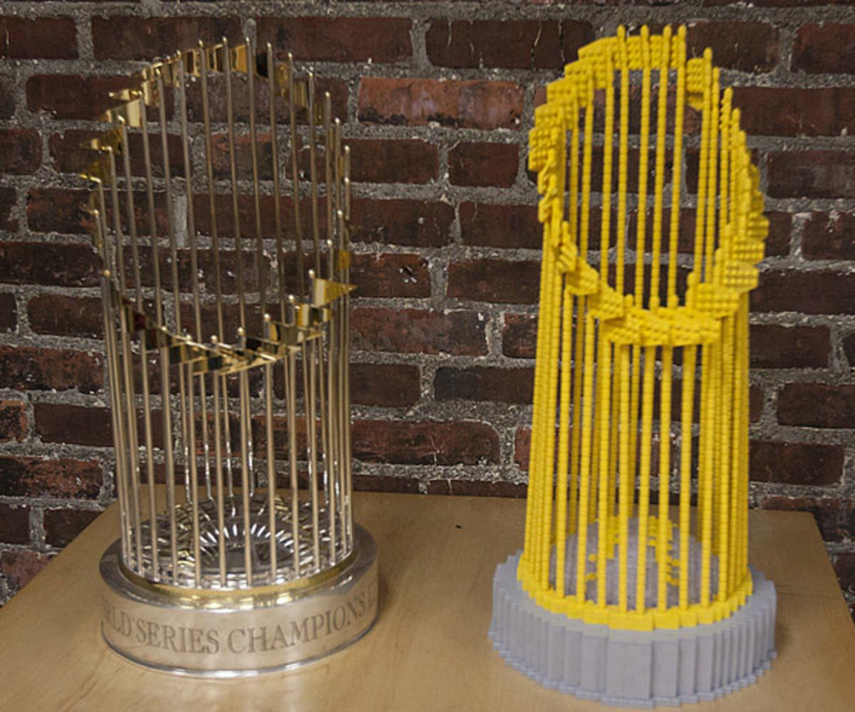 world series trophy legos boston
