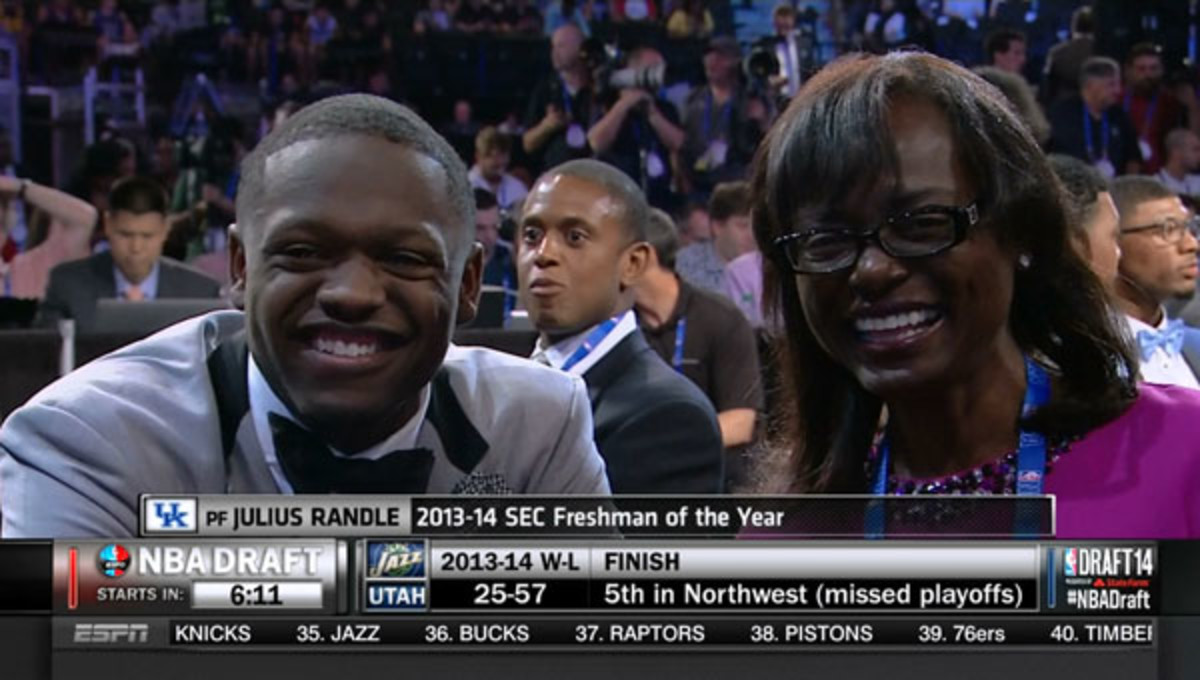 julius randle mom 2014 nba draft