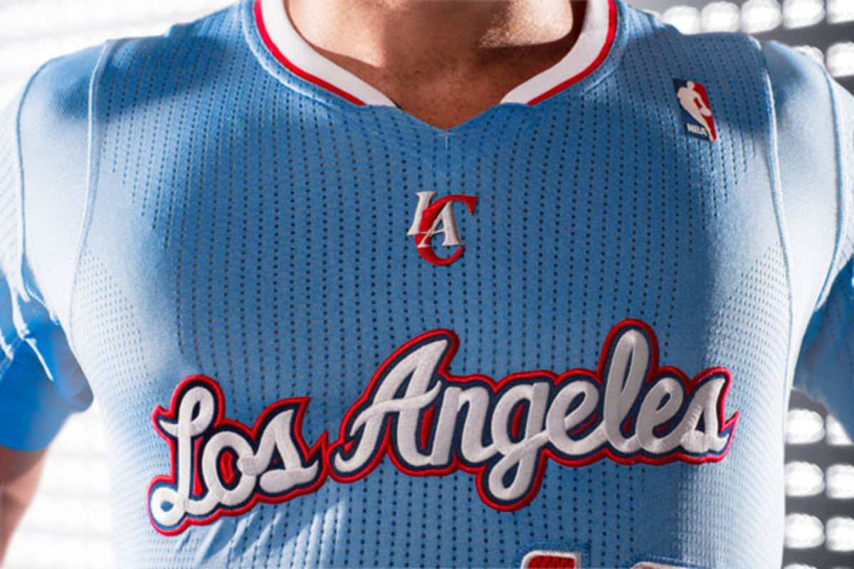 la clippers back in blue jersey front