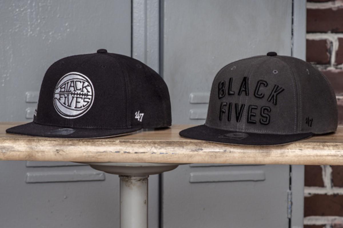47 brand black fives basketball