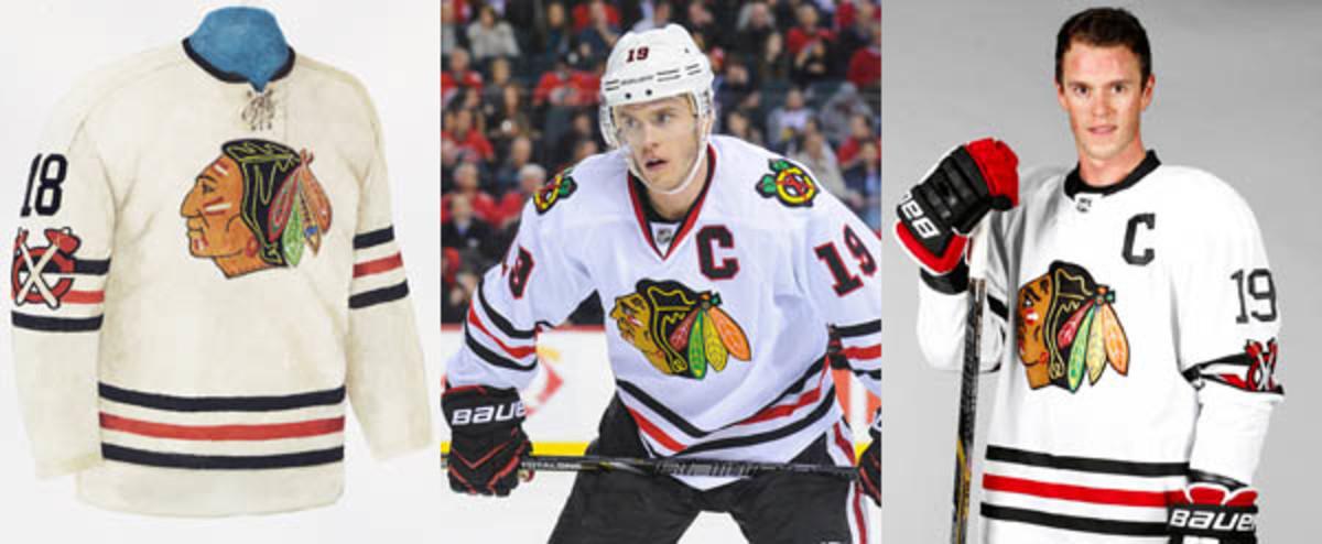 chicago blackhawks winter classic jersey comparison