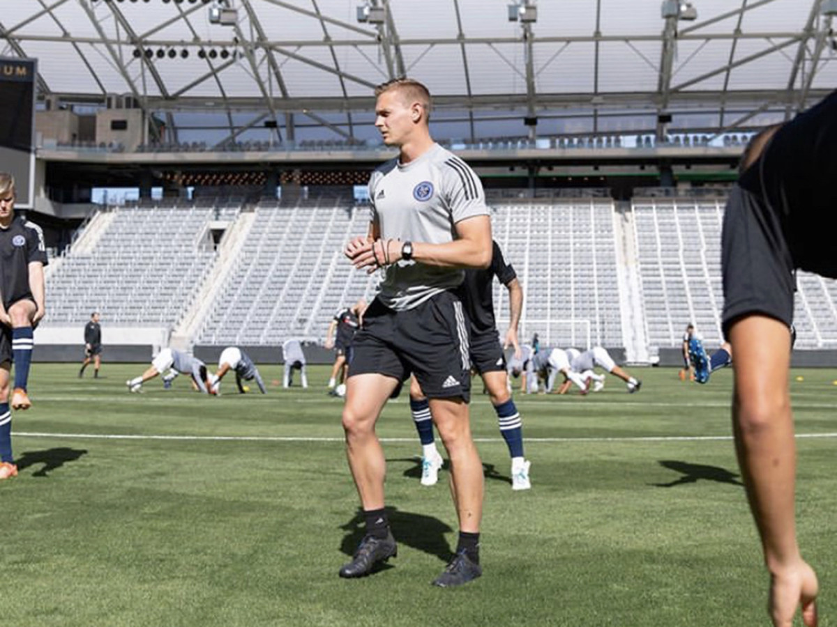 New York City FC performance trainer Jake Roswell