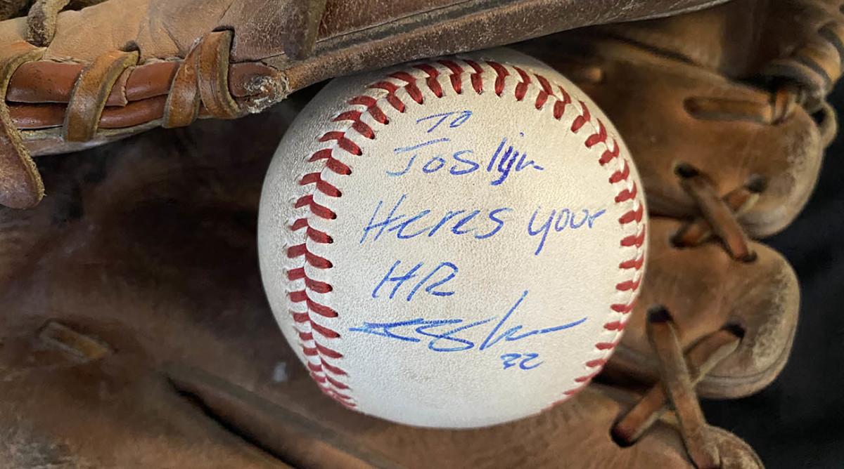 Logan Moon Baseball in glove